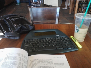 The Alphasmart Neo, The Artist's Way and Starbucks