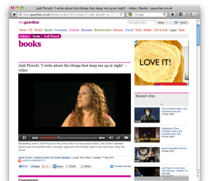 The Guardian interviews Jodi Picoult